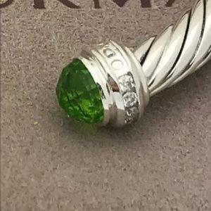 DAVID YURMAN 5mm PERIDOT DIAMONDS BRACELET